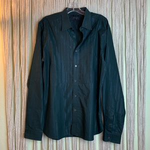 Ted Baker Black Long Sleeve Button Down Shirt SM